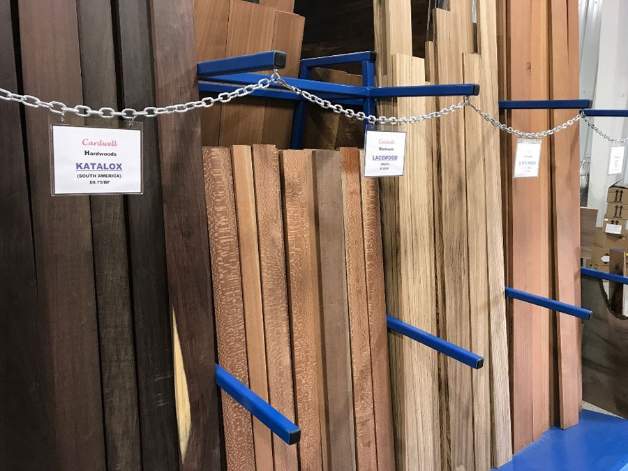 Retail Lumber Store Wood Options